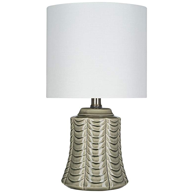 """Gray Ceramic 16"""" High LED Accent Table Lamp"""