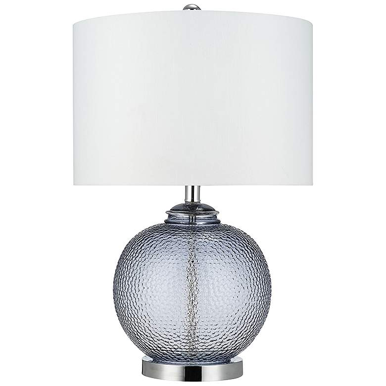 Smoke Gray LED Gourd Accent Table Lamp