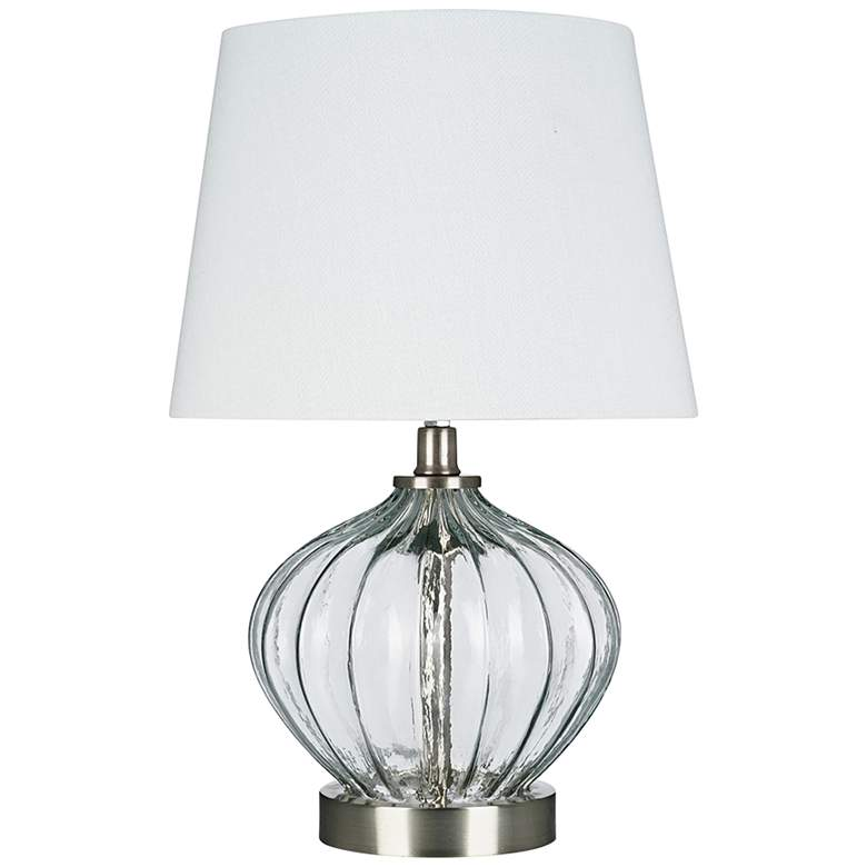 """Clear Glass 16 1/2"""" High Accent Table Lamp with LED Bulb"""