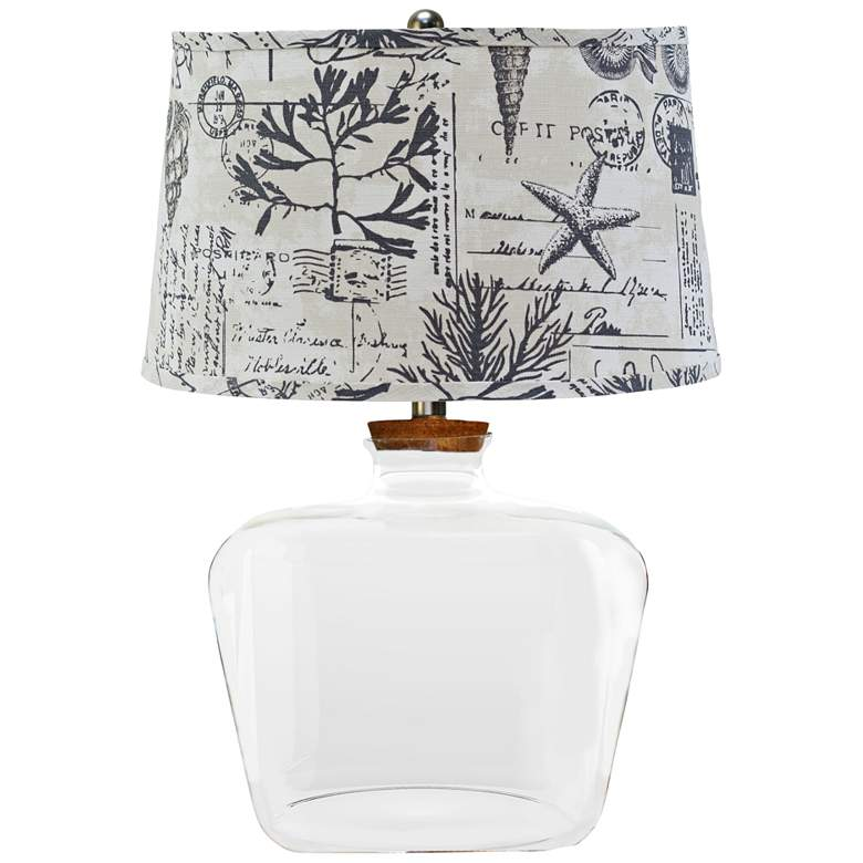 Clearview Fillable Glass Table Lamp w/ Seaside Smoke Shade