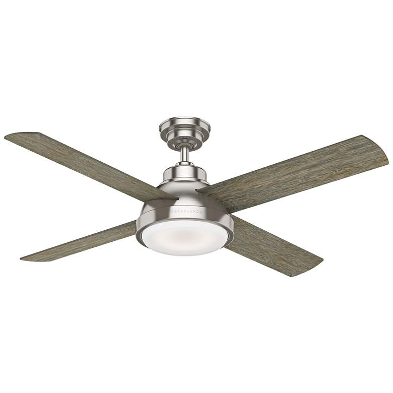 "54"" Casablanca Levitt Brushed Nickel LED Ceiling Fan"