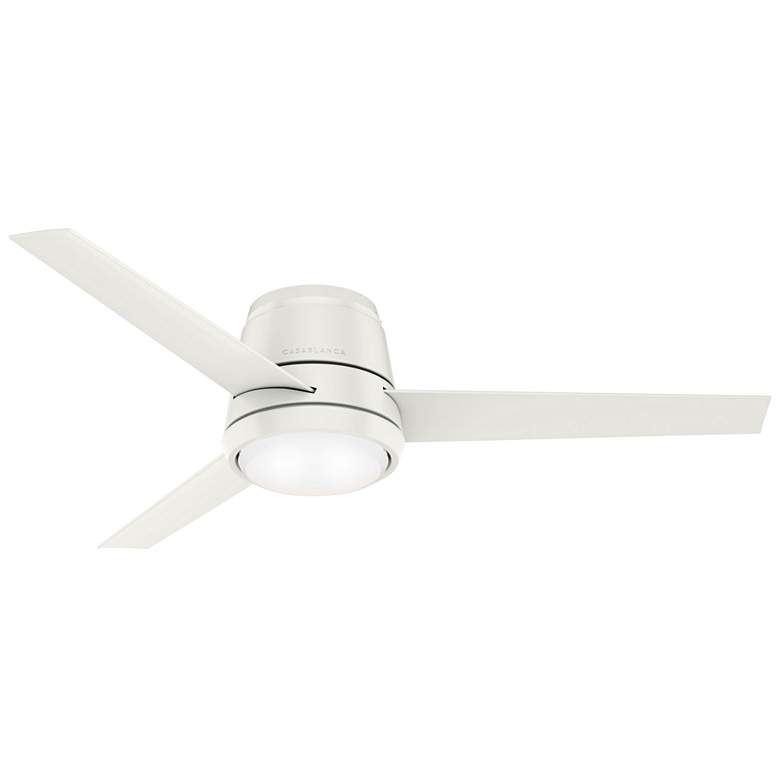 "54"" Casablanca Commodus Fresh White LED Hugger Ceiling Fan"
