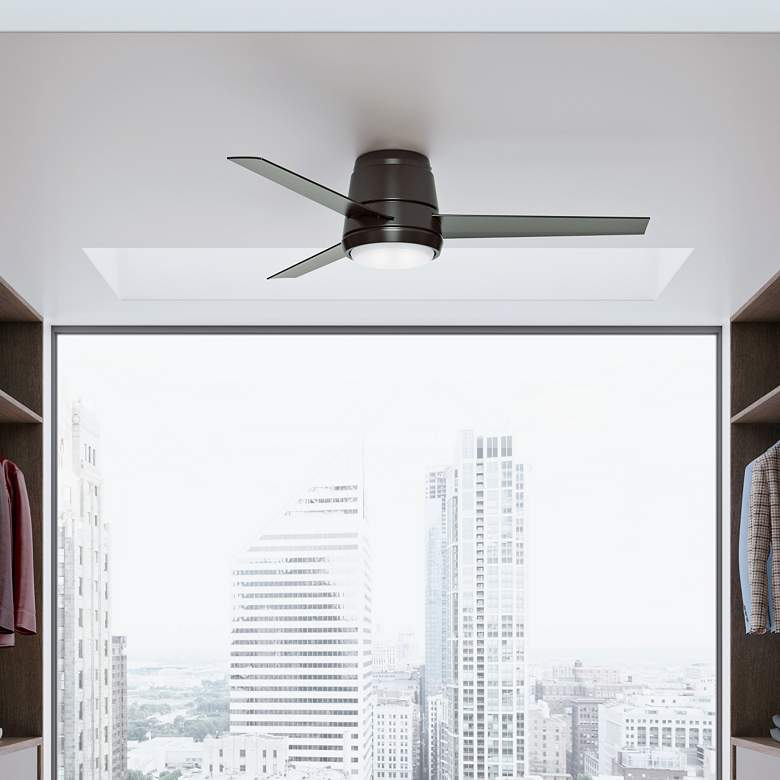 "54"" Casablanca Commodus Noble Bronze LED Hugger Ceiling"