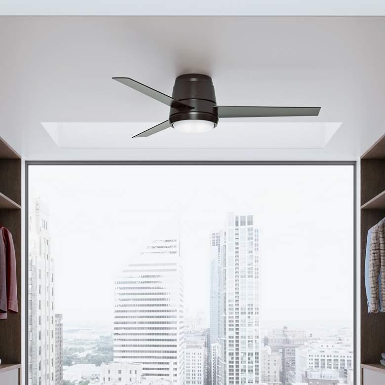 "54"" Casablanca Commodus Noble Bronze LED Hugger Ceiling Fan"