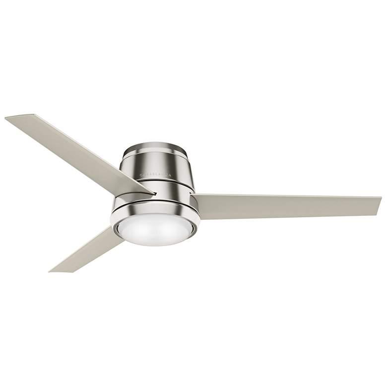 "54"" Commodus Brushed Nickel LED Hugger Ceiling Fan"