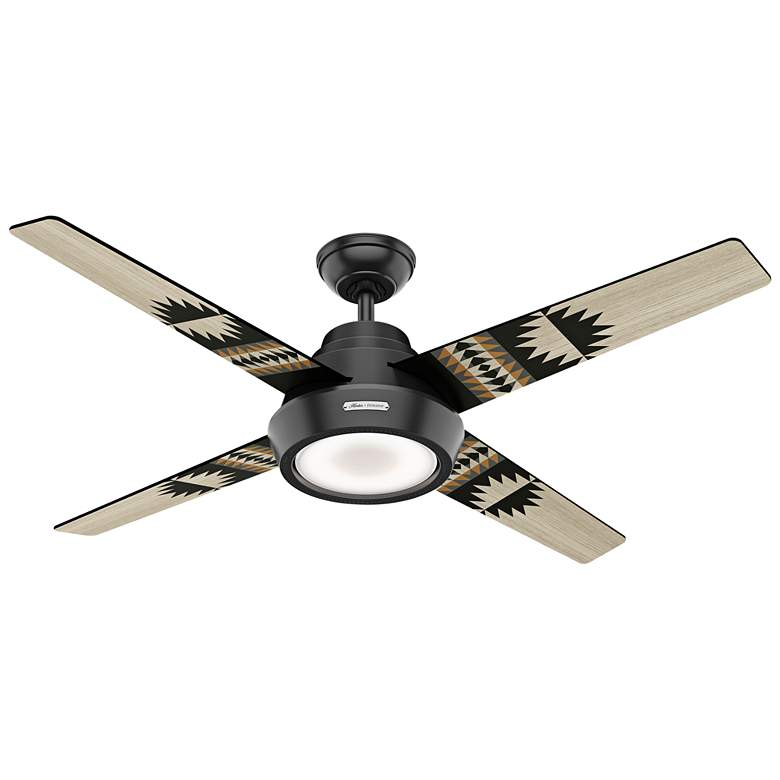 "54"" Hunter Pendleton Matte Black LED Ceiling Fan"