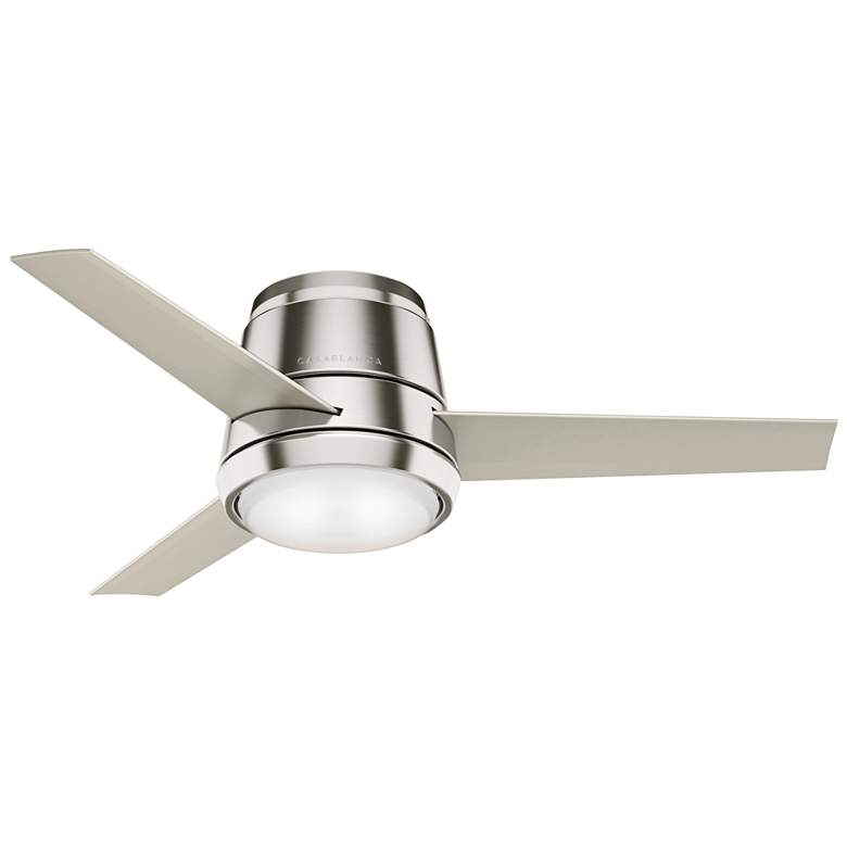 "44"" Commodus Brushed Nickel LED Hugger Ceiling Fan"