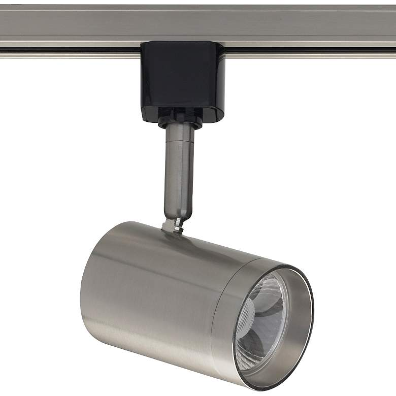 Nuvo Brushed Nickel Cylinder 24-Degree LED Track Head