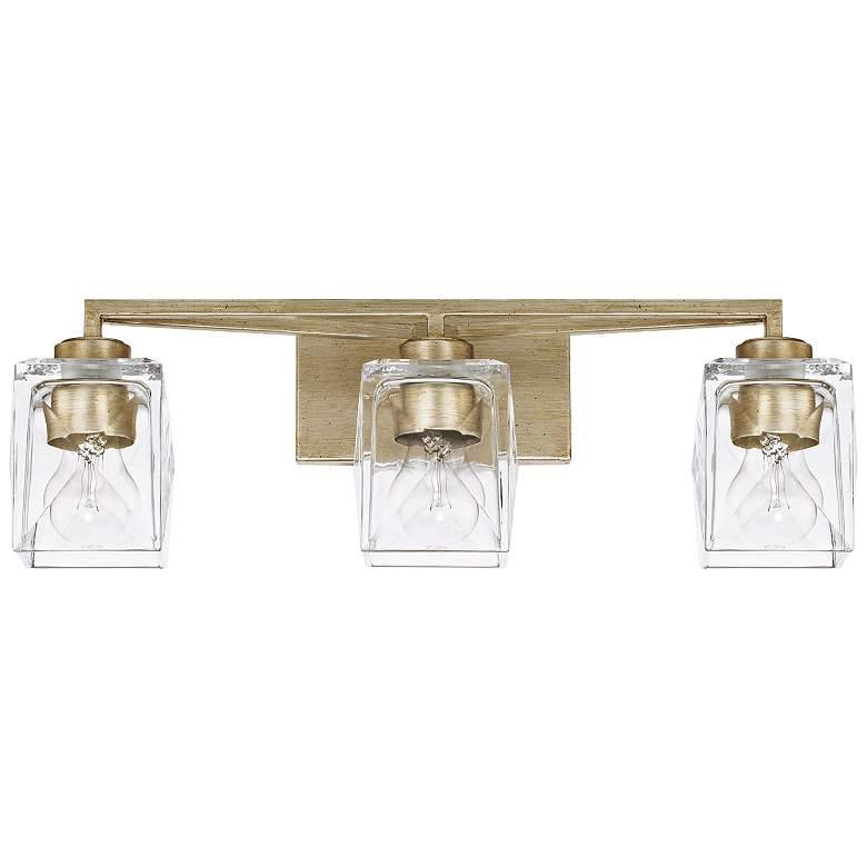 """Capital Karina 23 1/2"""" Wide Winter Gold 3-Light Bath Light"""
