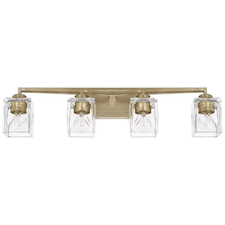 """Capital Karina 32 3/4"""" Wide Winter Gold 4-Light Bath Light"""