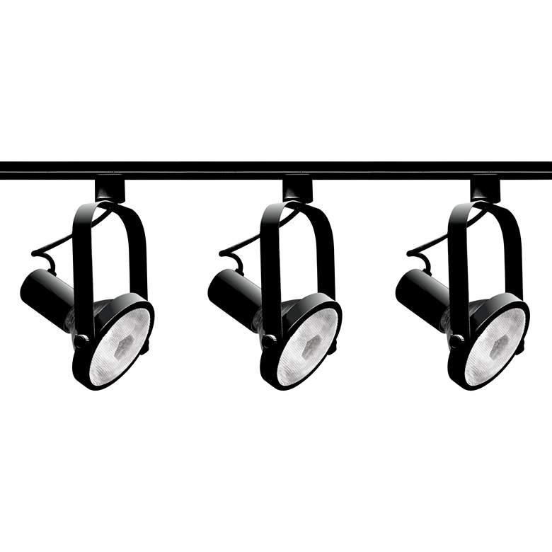 Nuvo 3-Light Black PAR30 Gimbal Ring Track Kit