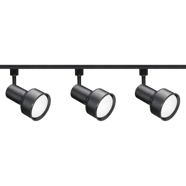 Nuvo 3-Light Black Step Cylinder Head Track Kit
