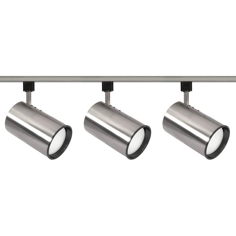 Nuvo 3-Light Brushed Nickel Straight Cylinder Track Kit