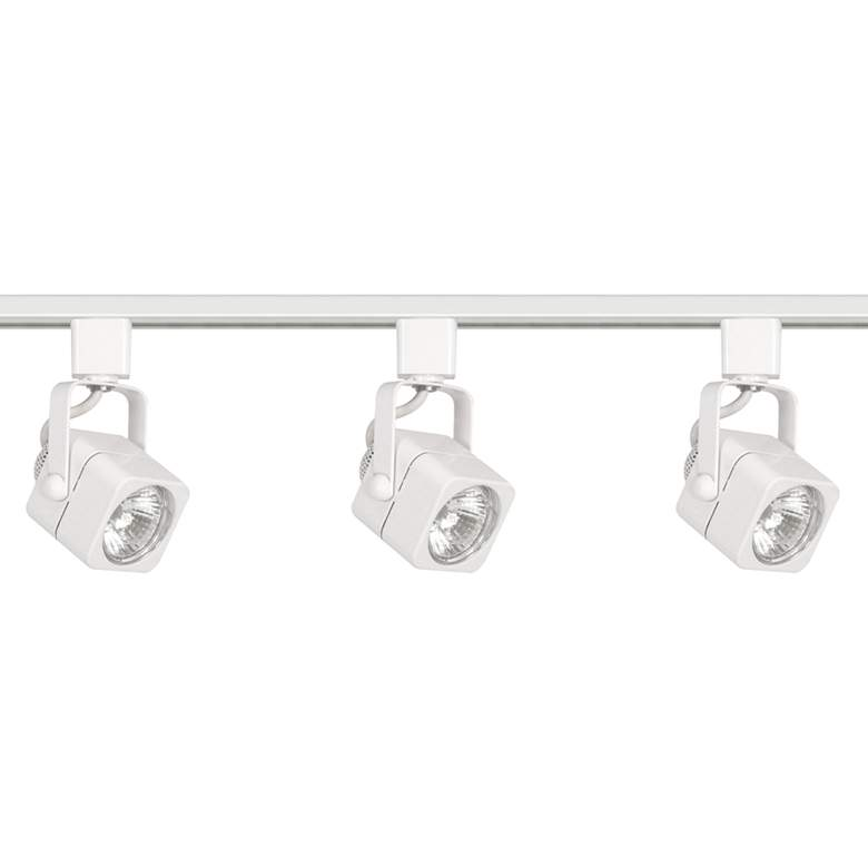 Nuvo 3-Light White 120V Square Head Track Kit