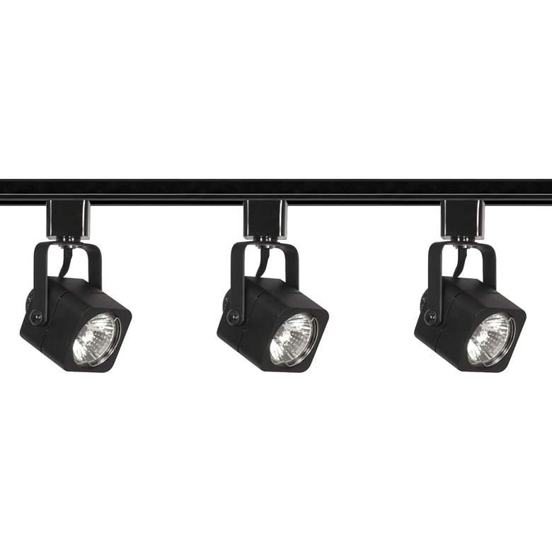 Nuvo 3-Light Black Square Head Track Kit