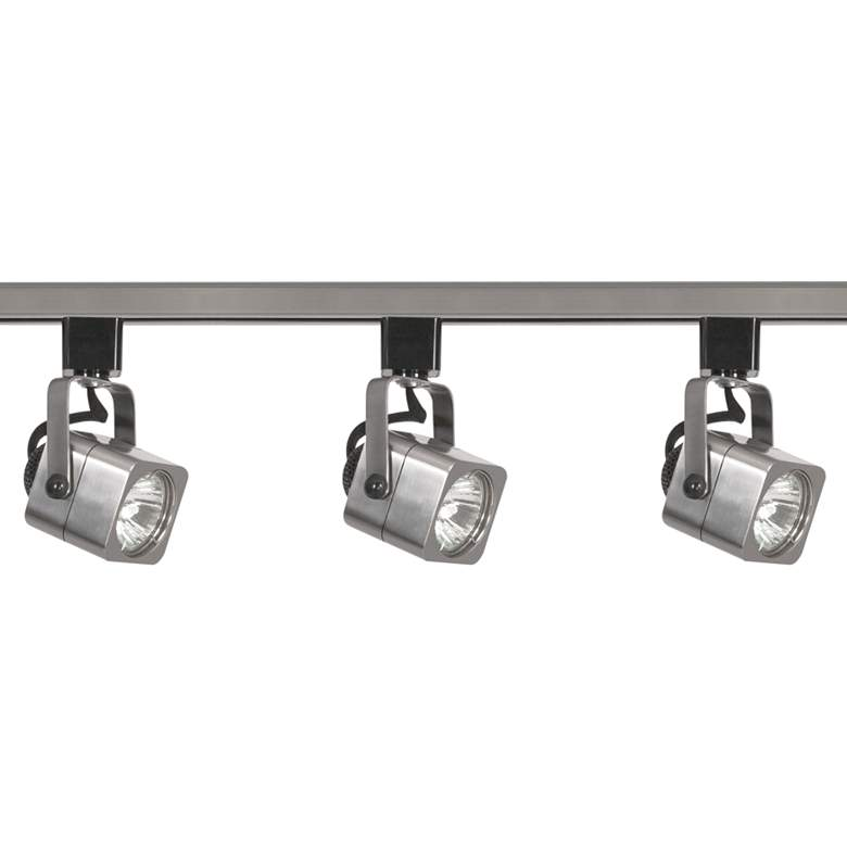 Nuvo 3-Light Brushed Nickel Square Head Track Kit