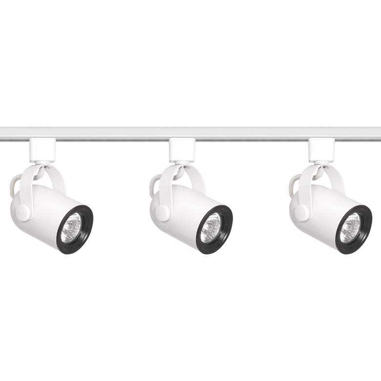 Nuvo 3-Light White Round Back Head Track Kit