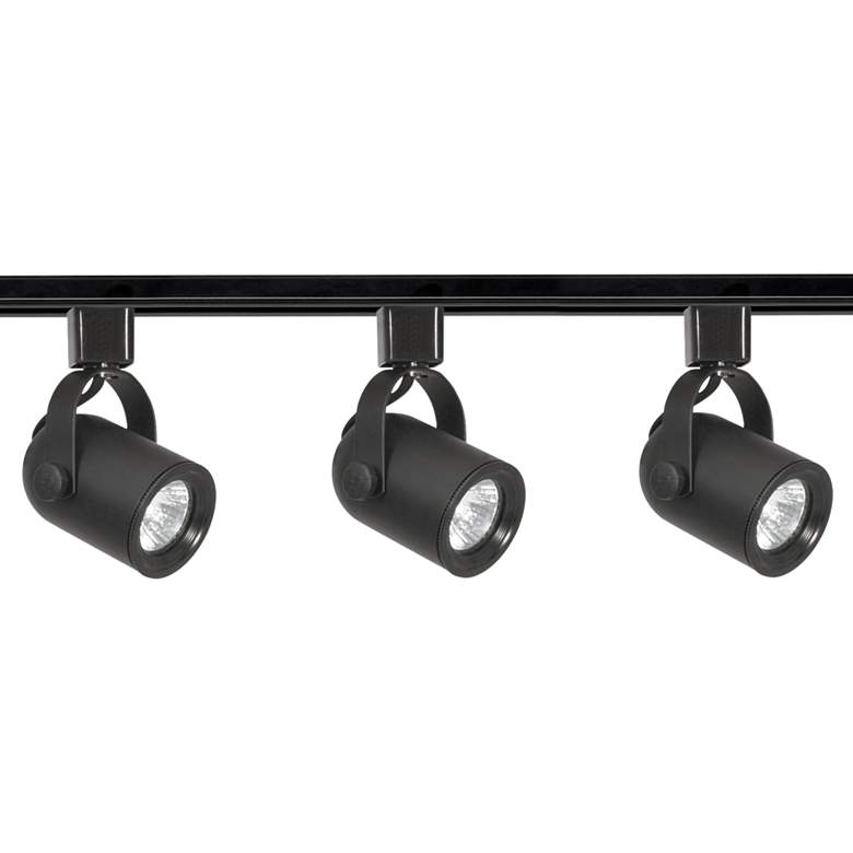 Nuvo 3-Light Black Round Back Head Track Kit