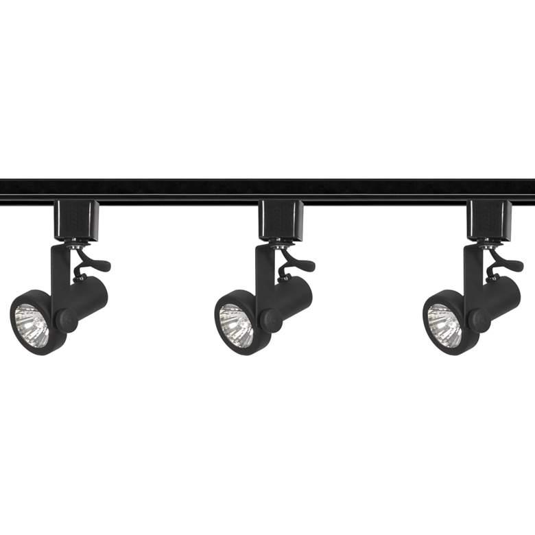 Nuvo 3-Light Black 50 Watt Gimbal Ring Track