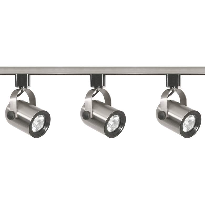 Nuvo 3-Light Brushed Nickel Round Back Head Track