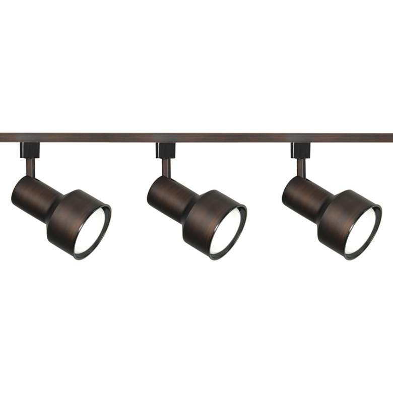 Nuvo 3-Light Russet Bronze Step Cylinder Head Track Kit