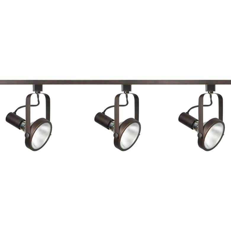 Nuvo 3-Light Russet Bronze Gimbal Ring Track Kit
