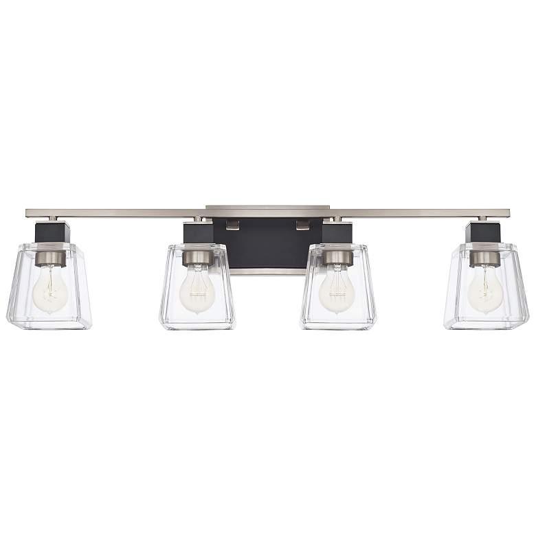 """Capital Tux 32"""" Wide Black Tie 4-Light Bath Light"""