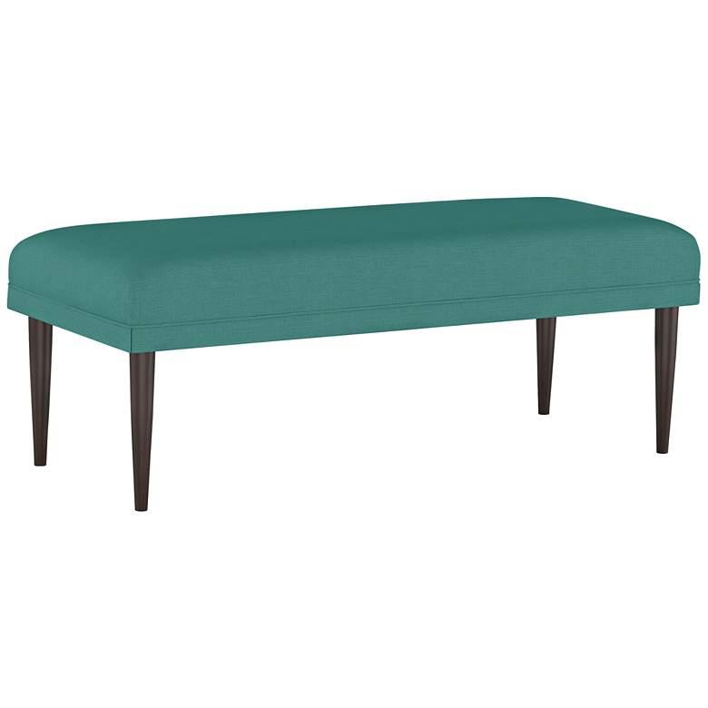 Fabian Linen Laguna Rectangular Fabric Bench