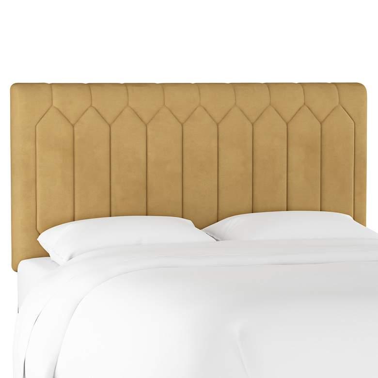 Monterra Velvet Honey Fabric Upholstered Queen Headboard