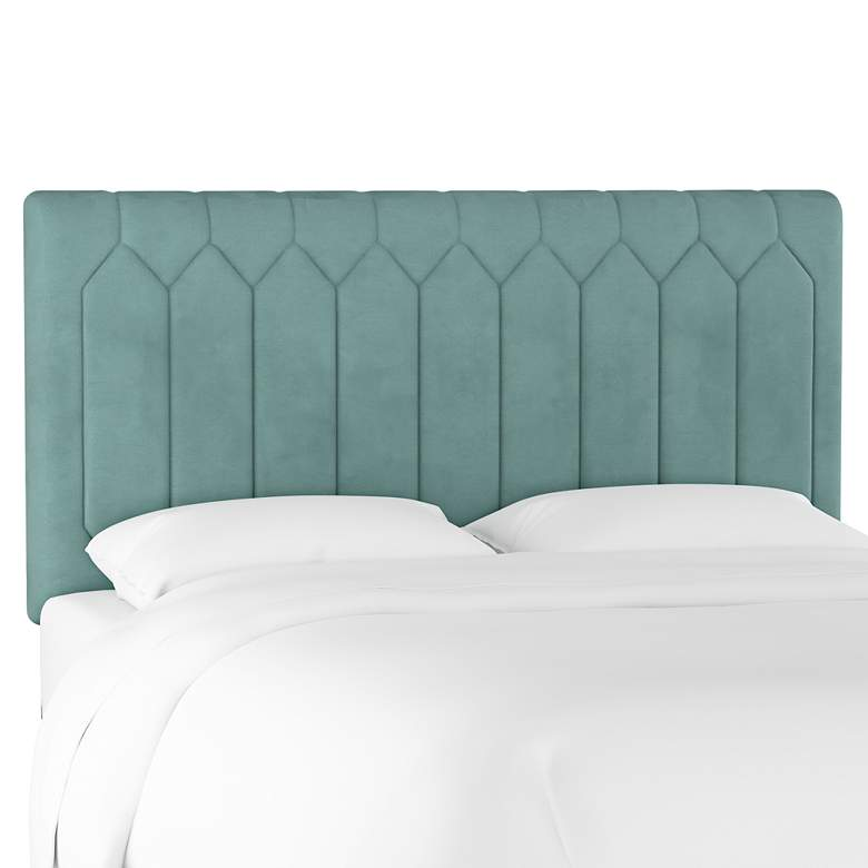 Monterra Velvet Caribbean Fabric Upholstered Full Headboard