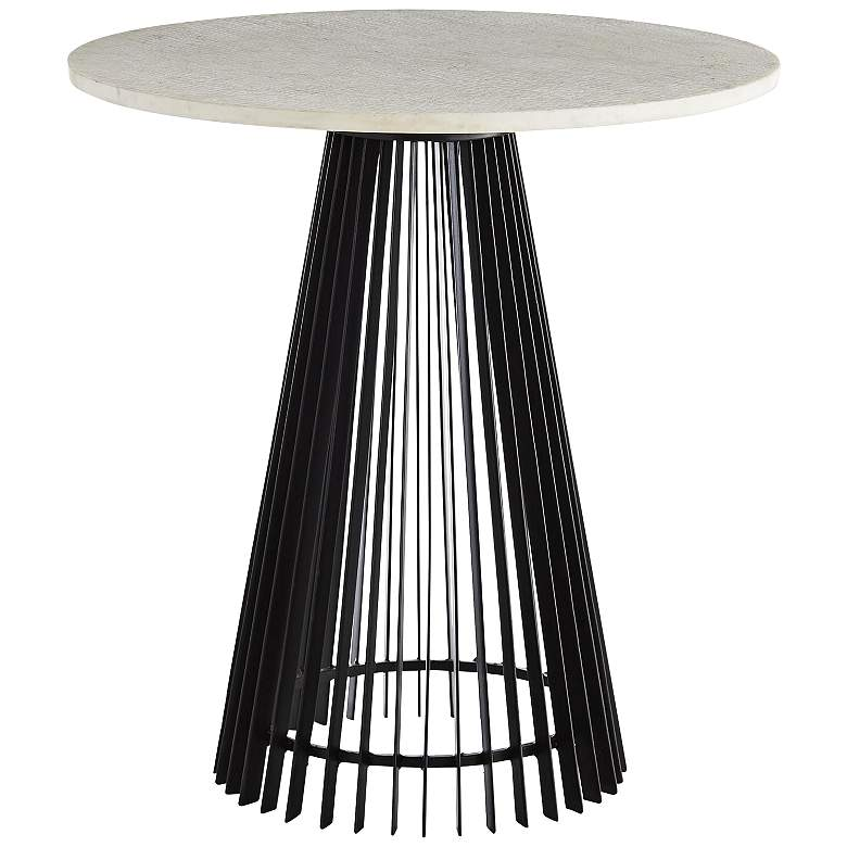"""Arteriors Home Jamie 23 1/2"""" Wide Black and White End Table"""