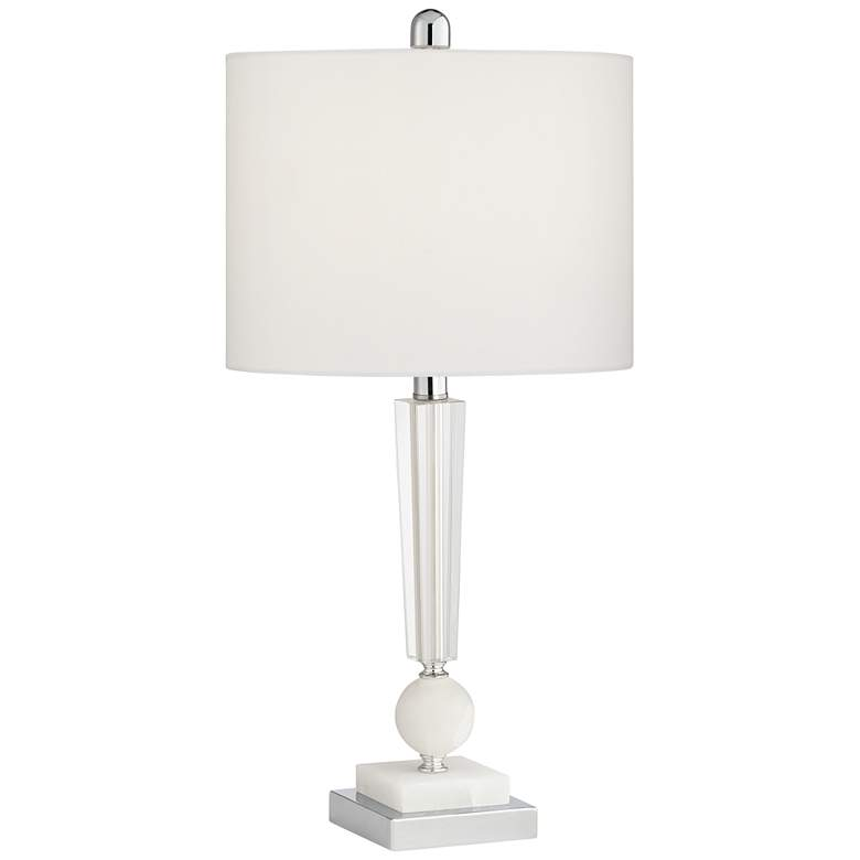 Inez Stacked Crystal and Marble Table Lamp