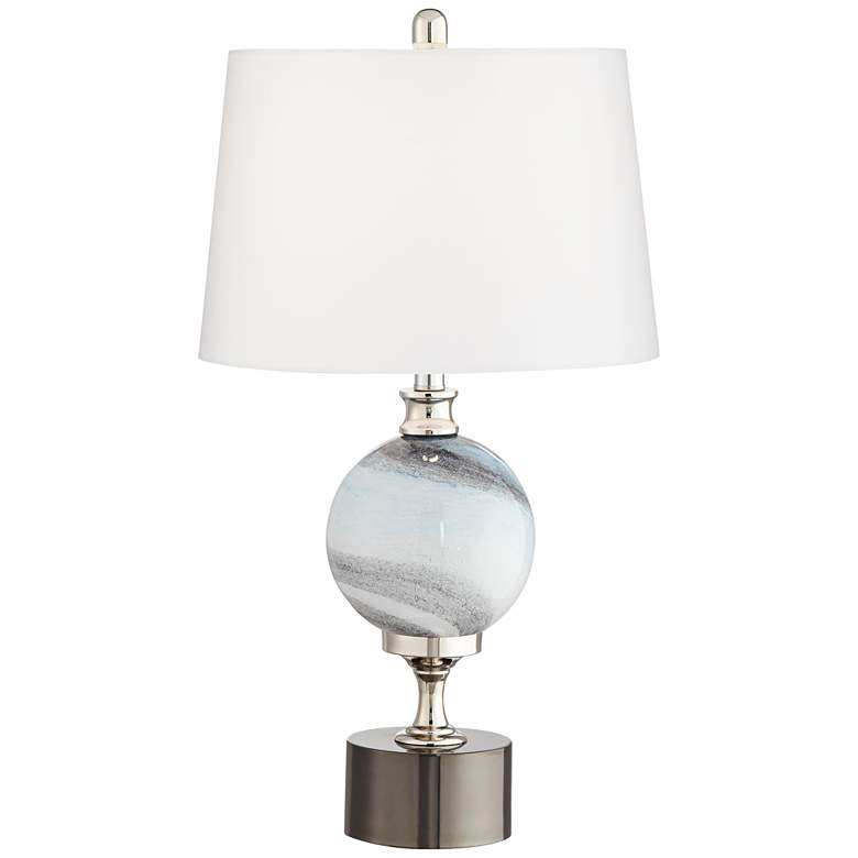 Maggie Modern Striated Glass Table Lamp