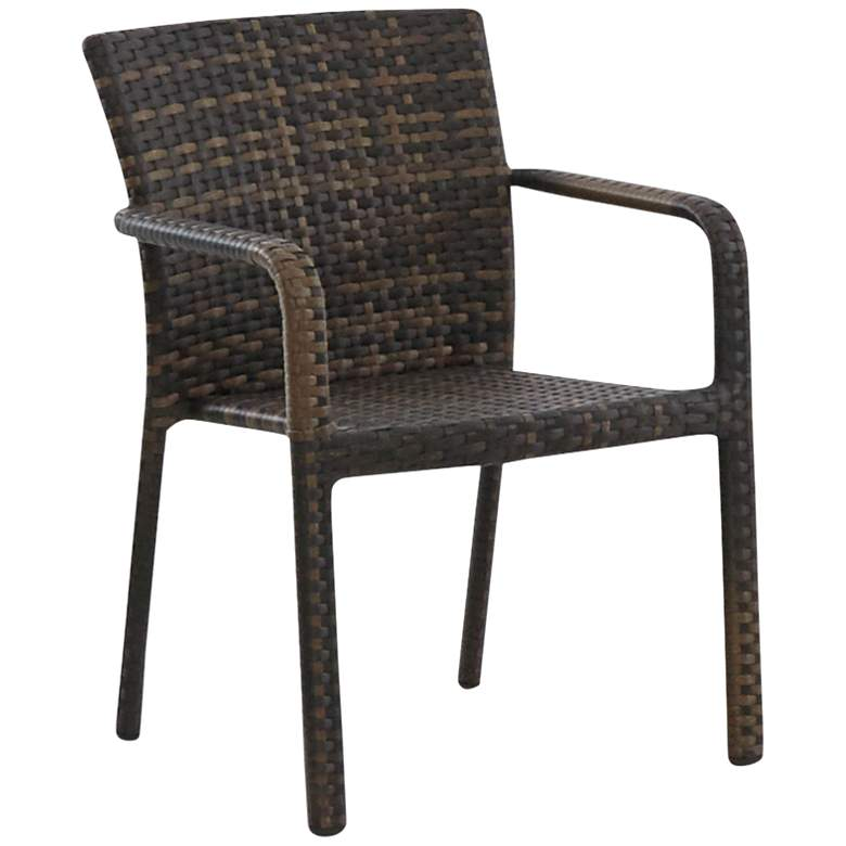 Klaussner Crossroads Brown Wicker Outdoor Dining Chair