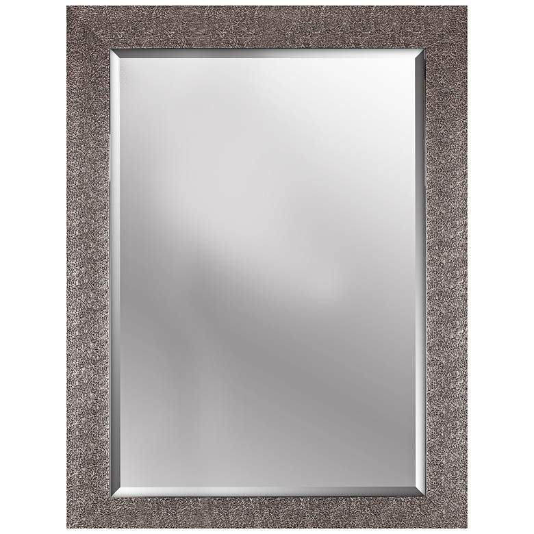 """Northwood Crackled Antique Silver 26 1/2"""" x 34 1/2"""" Mirror"""