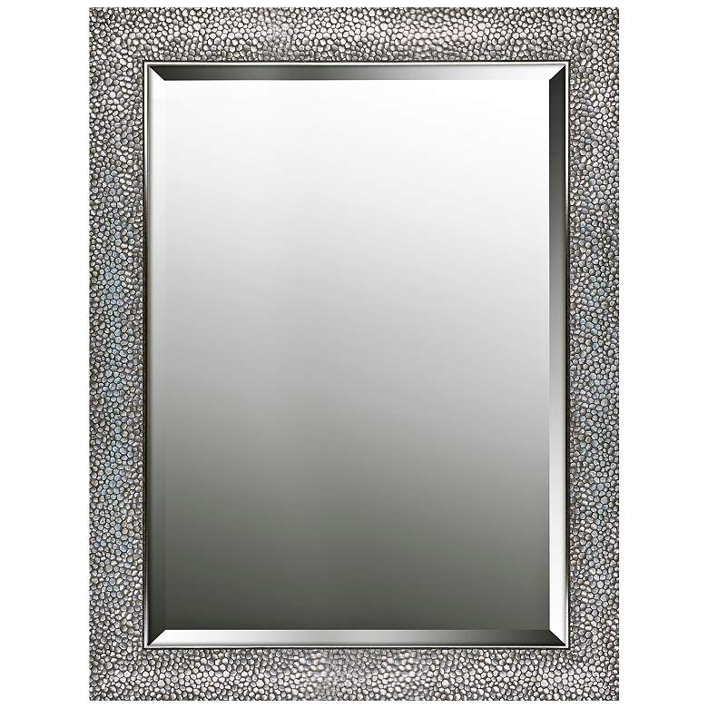 "Northwood Patterned Silver 25 1/4"" x 33 1/4"" Wall Mirror"