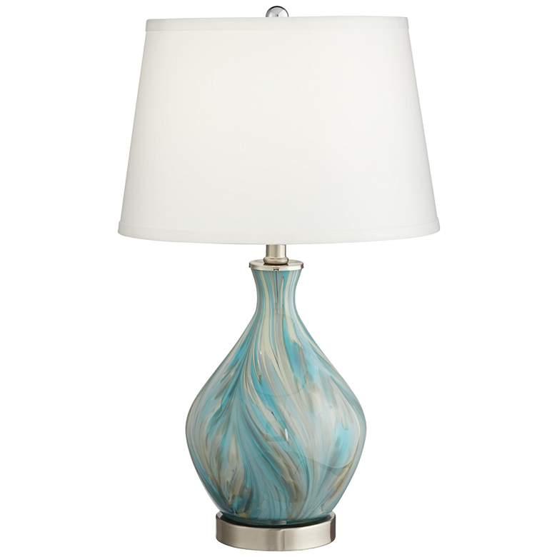 Cirrus Art Glass Vase Accent Table Lamp