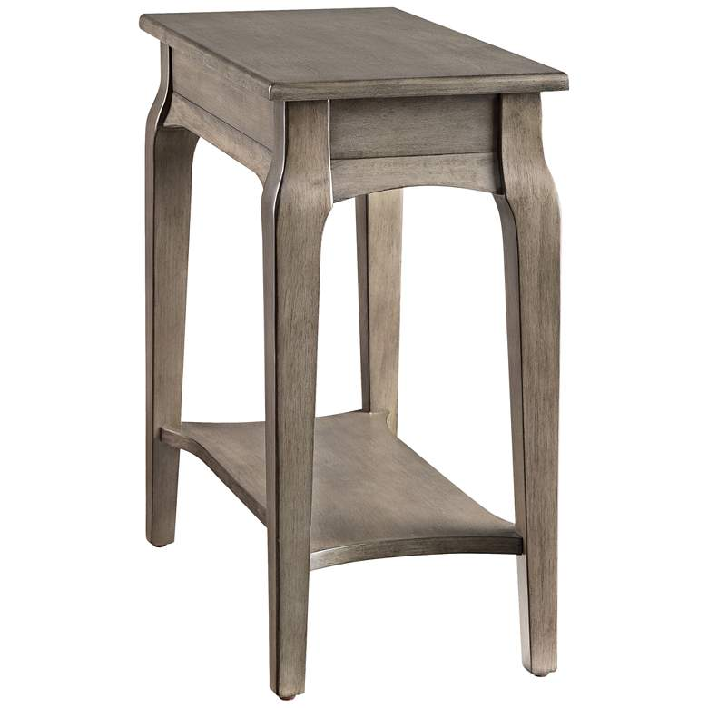 "Leick 12"" Wide Smoke Gray Narrow 1-Shelf Chairside Table"
