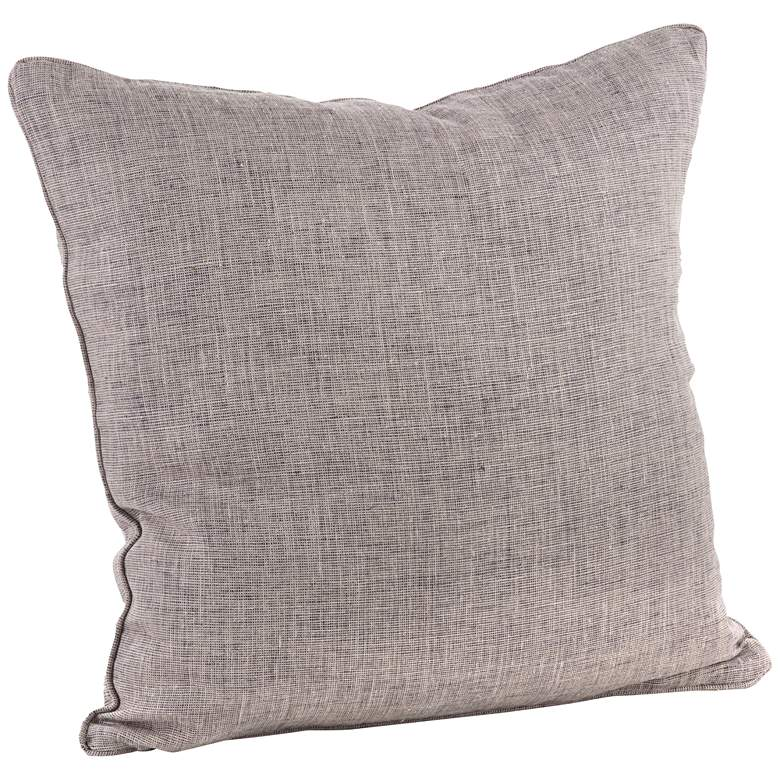 "Denier Natural Linen 20"" Square Decorative Throw Pillow"