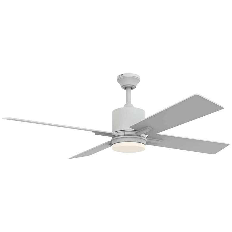 "52"" Craftmade Teana White LED Ceiling Fan"
