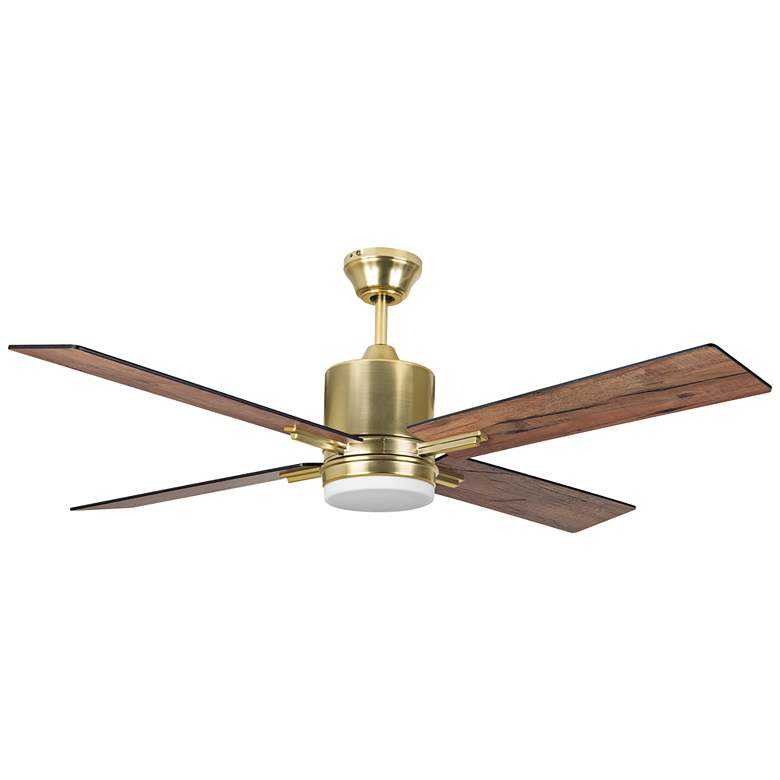 "52"" Craftmade Teana Satin Brass LED Ceiling Fan"