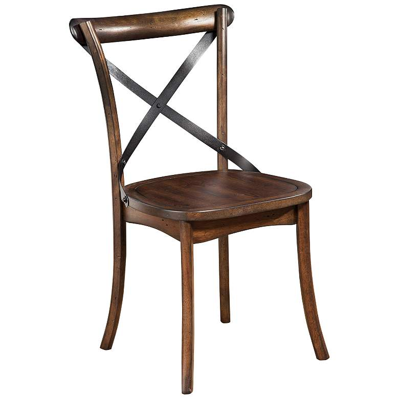 Arendal Burnished Dark Oak Wood Side Chair