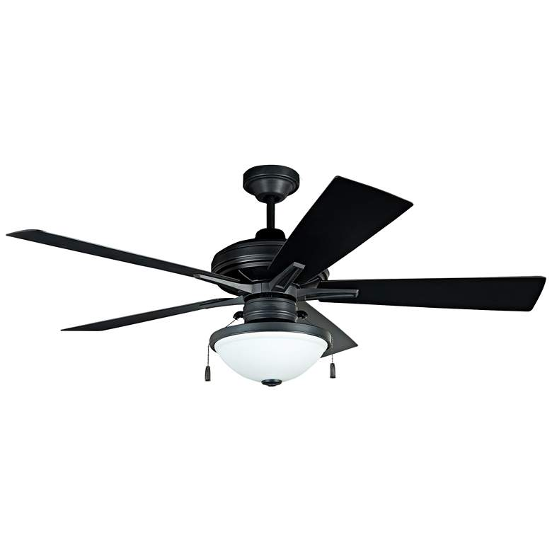 "52"" Riverfront Aged Bronze Brushed LED Outdoor Ceiling Fan"