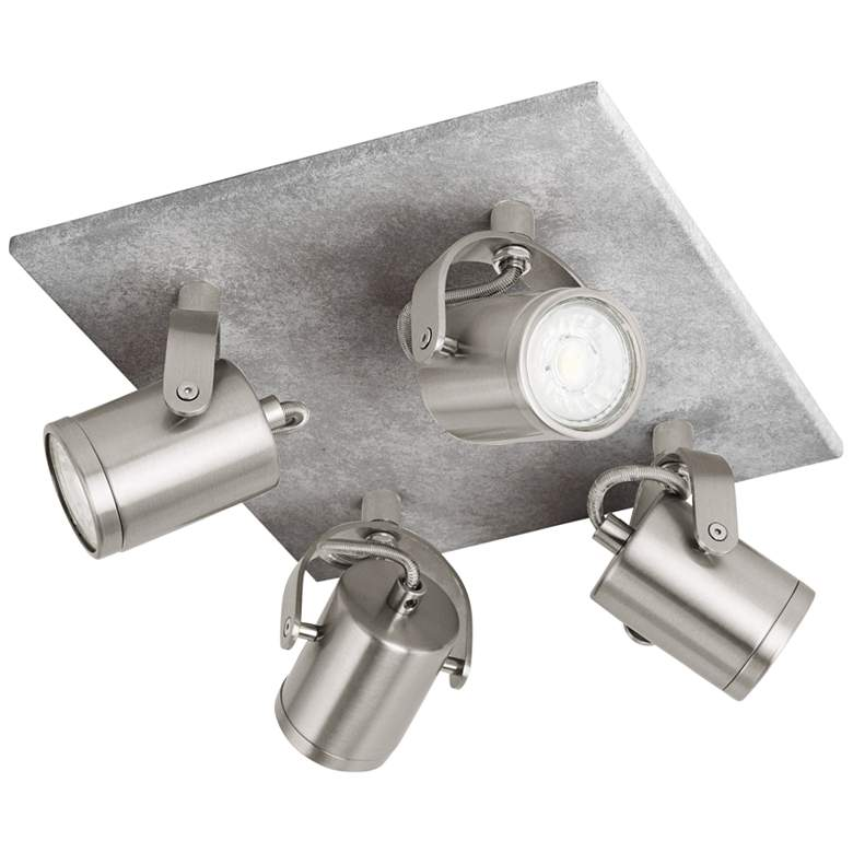 Eglo Praceta 4-Light Concrete Gray LED Ceiling Track Fixture