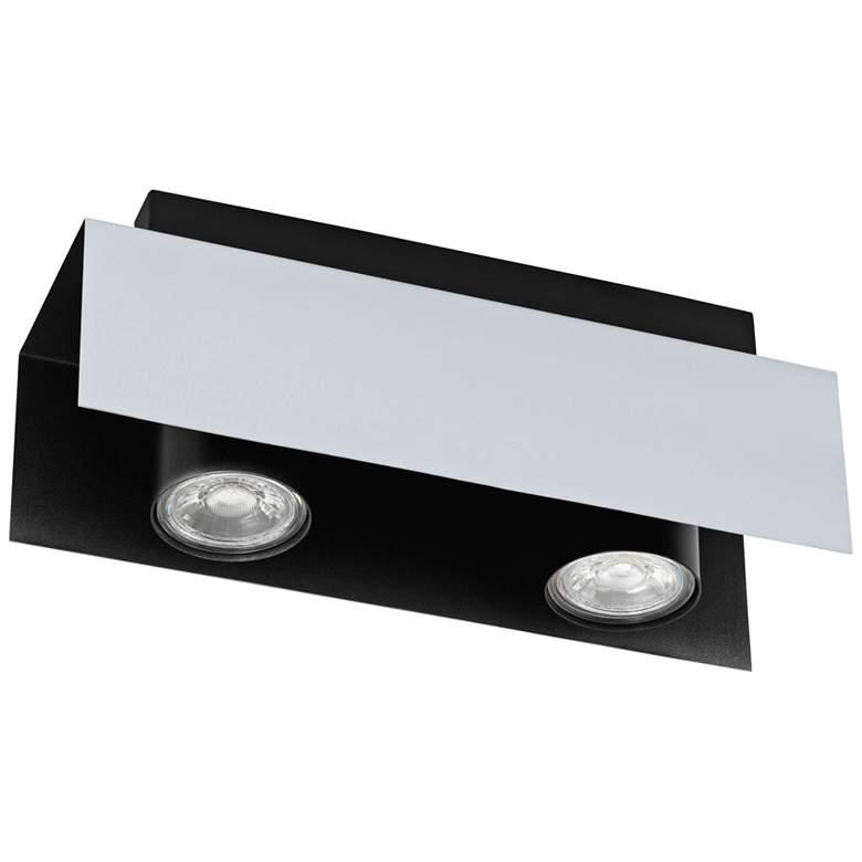 Eglo Viserba 2-Light Aluminum and Black LED Track