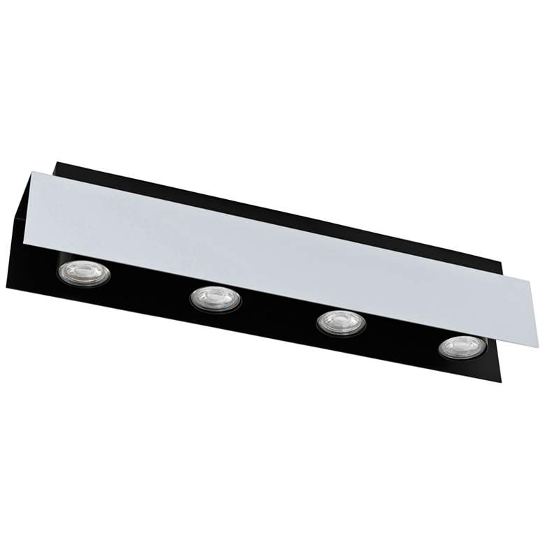 Eglo Viserba 4-Light Aluminum and Black LED Track