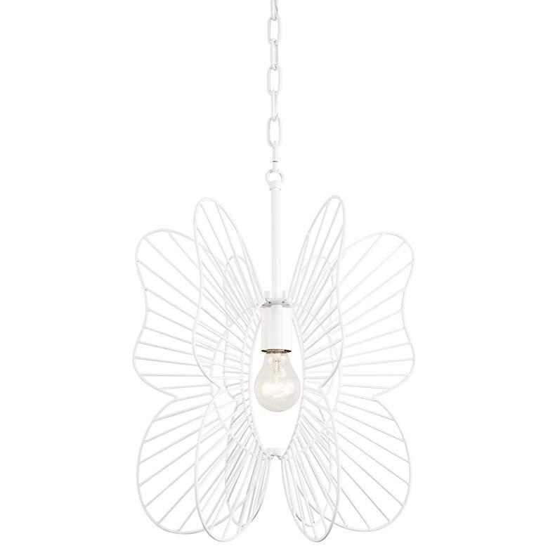 "Varaluz Monarch 14 3/4"" Wide White Butterfly Pendant Light"