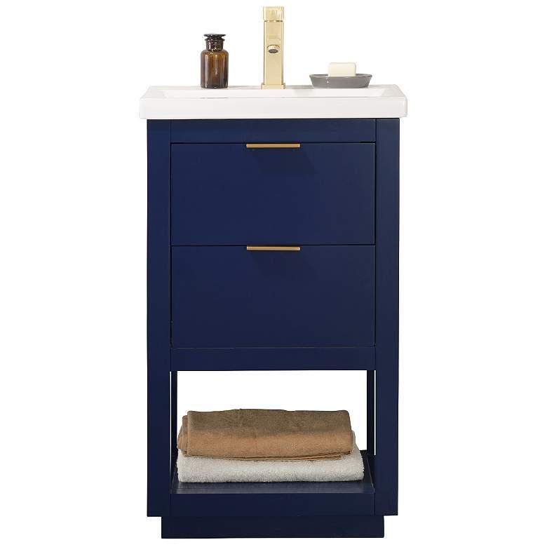 "Klein 20"" Wide 2-Drawer Porcelain Blue Single Sink Vanity"