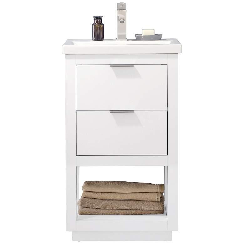 "Klein 20"" Wide 2-Drawer Porcelain White Single Sink"