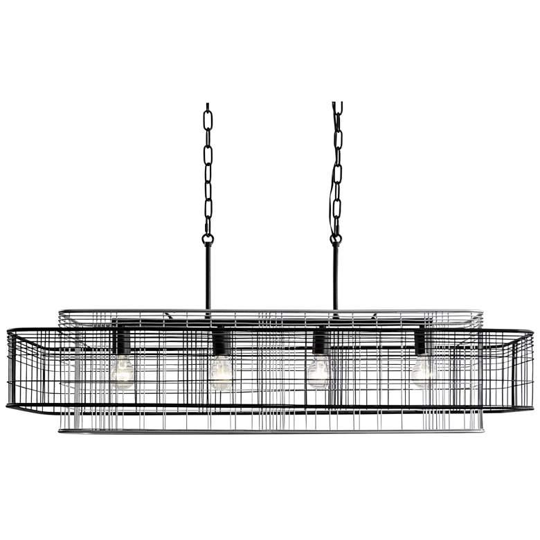 "Vivienne 42 3/4""W Black Gray Kitchen Island Light Pendant"